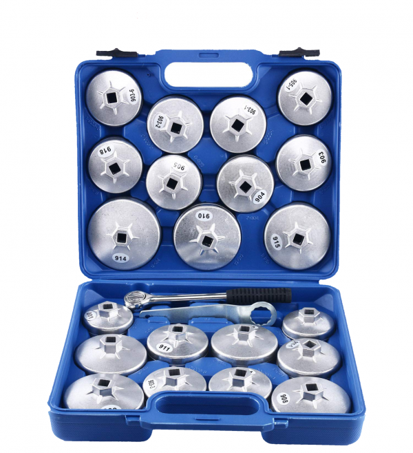 23Pc Cup Type Aluminium Oil Filter Wrench Removal Socket Remover Tool Set Kit