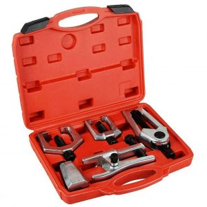 5pcs Front End Service Tool Kit Ball Joint Tie Rod Set Pitman Arm Puller Remove