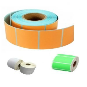 Blank Colour Labels Roll
